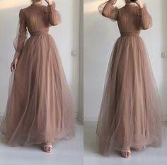 Cute Long Sleeve Dresses, Prom Dresses With Sleeves, Wedding Dress Sleeves, Modest Dresses, Hijab Prom Dress, Hijab Evening Dress, Evening Dresses, Modest Fashion Hijab, Modesty Fashion