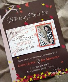 Save The Date Fall Theme Evelice Jim S Autumn Magnets