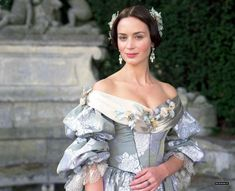 Emily Blunt got to wear beautiful gowns when she played Queen Victoria of England.