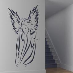 Female Angel Wall Art Sticker Wall Art Decal - Angels & Wings - Fantasy