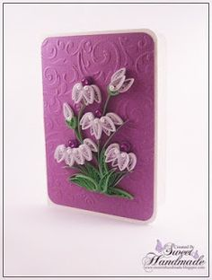 • Sweet Handmade •: With purple and white