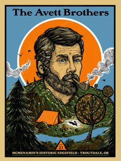 Two New Posters for The Avett Brothers by Zeb Love (Onsale Info)