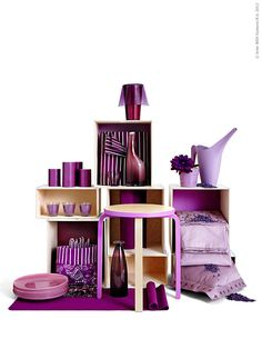 GAVIK Table lamp IKEA Small and easy to place anywhere you want to bring some coziness and color into your home. Frosta Ikea, Ikea Lighting, Purple Furniture, Ikea Stool, Purple Door, Purple Haze, Store Window Displays, Ikea Home, Ikea Storage