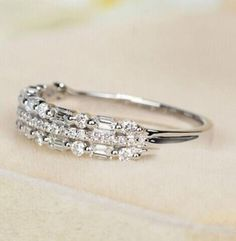 Baguette Diamond Wedding Band, Baguette Diamond Rings, Jewelry Rings, Jewelery, Fine Jewelry, Jewelry Box, Eternity Ring Diamond, Diamond Bands, Diamond Cuts