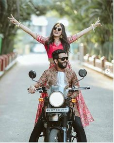 Want a bridal entry thats a dance dhamaka? Then you have to see our list of these super fun new bridal entry songs and entry ideas for the bindaas bride! Indian Wedding Couple Photography, Photo Poses For Couples, Wedding Couple Poses Photography, Girl Photography Poses, Biker Photoshoot, Couple Photoshoot Poses, Couple Shoot, Pre Wedding Poses, Pre Wedding Photoshoot