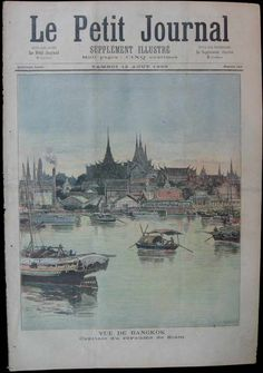 Le Petit Journal  10th August 1893  View of Bangkok
