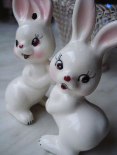 Vintage Bunnies by Small Treasures, via Flickr