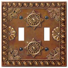 Amiens Copper Resin - 2 Toggle Wallplate