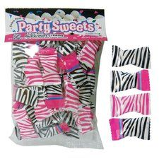 Pink Zebra Party Mints. One bag of 50 Pink Zebra Party ButterMints. Individually wrapped. Find it at http://www.ezpartyzone.com/pd-pink-zebra-party-mints-50-ct.cfm