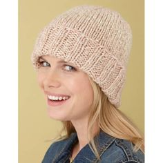 Simple Hat Pattern (Knit) - Lion Brand Yarn 401cb17ed2c