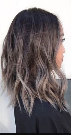 81 Stunning Ash Brown Hair Colors Ideas For You . - 81 Stunning Ash Brown Hair Colors Ideas For You … 81 Stunning Ash Brown Hair Colors Ideas For You Ashy Blonde Hair, Hair Color Balayage, Dark Brunette, Ash Brown Hair Balayage, Ash Highlights Brown Hair, Color Highlights, Ash Ombre Hair, Haircolor, New Hair