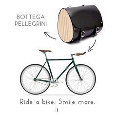 Bike bag - Bottega Pellegrini www.bottegapellegrini.com