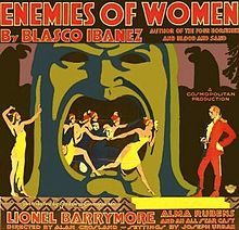 Enemies of Women(1923) lional Barrymore, Alma Rubens, Clara Bow had an uncredited role,dancing half naked on a table...)