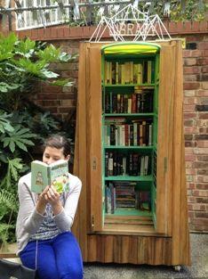 micro library Gibbons Rent community gardens, near London Bridge