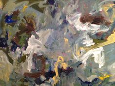 THOUGHTS by KERRI ROSENTHAL 48x36 acrylic on canvas