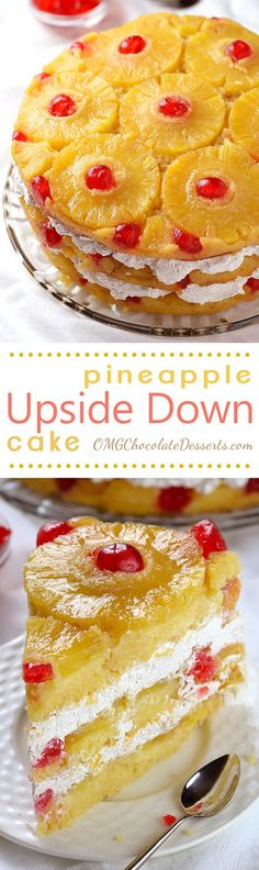 Pineapple Upside Down Cake - Triple the glaze and triple the pineapple and you've got a whole new world of awesome!!! This is the kind of show-stopping cake you want to bake for guests, friends and family.