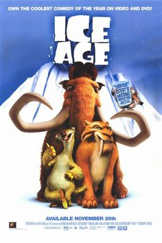 Ice Age - a great kids film, funny and charming. Seen twice this year. Ice Age Movies, All Movies, Family Movies, Great Movies, Best Cartoon Movies, Childhood Movies, Awesome Movies, Film D'animation, Film Serie