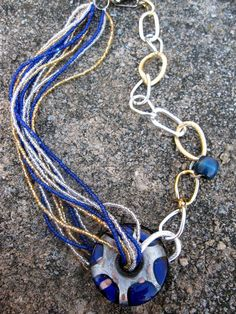 Statement Necklace, Boho Jewelry. Make a statement with this bold asymmetrical necklace!  Looking for other color options, check them out here: www.gennextjewelry.etsy.com  Pin this to your funky jewelry board!  $33