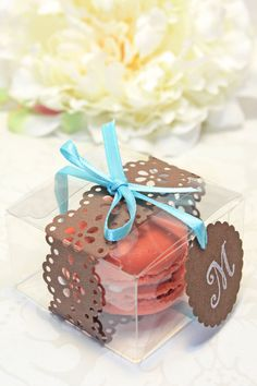 Shower Favors  French Macaron Favor Boxes  by IndayaniBakedGoods, $138.00