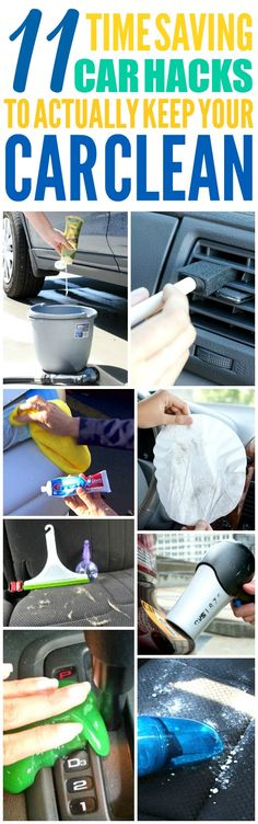 These 11 Time Saving Car Hacks are THE BEST! I'm so glad I found these AMAZING tips! now I have some great ways to keep my car clean and organized! Definitely pinning!