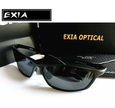 5b63ad1e35d Ophthalmic Lenses Myopic Sunglasses Black Frame Aluminium Magnesium RX Optic  Custom Power Brand EXIA OPTICAL KD