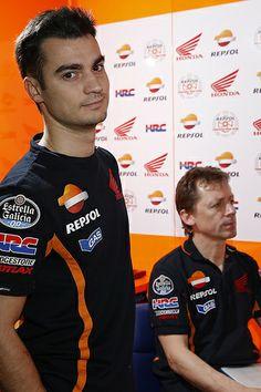 Dani Pedrosa and Mike Leitner
