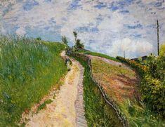 The Hill Path, Ville d Avray - Alfred Sisley - WikiPaintings.org