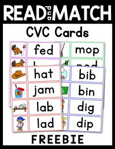 This set is perfect for small group, literacy centers, or individual practice skills. Just print, cut, and laminate. Word Family Activities, Cvc Word Families, Phonics Activities, Kindergarten Reading, Teaching Reading, Kindergarten Literacy Centers, Phonics Reading, Kindergarten Worksheets, Reading Skills