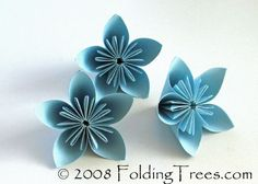 Flowers made out of paper!