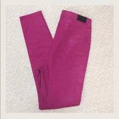 "Kate Spade Saturday ""Saturday Night"" Jean Kate Spade Saturday ""Saturday Night"" coated jeans. EUC with normal wash wear. These are AMAZING! Size 29. Approximate measurements: waist 14.5"", inseam 31"", and rise 11"". From smoke and pet free home. kate spade Jeans"
