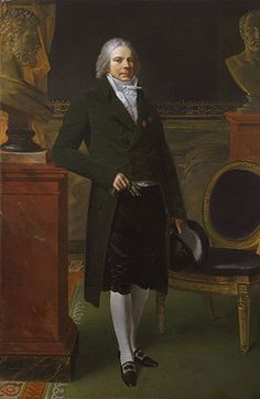 Heilbrunn Timeline of Art History | The MOA/ Charles-Maurice de Talleyrand-Périgord (1754–1838), Prince de Bénévent, 1817 Pierre Paul Prud'hon (French, 1758–1823) Oil on canvas  85 x 55 7/8 in. (215.9 x 141.9 cm) Purchase, Mrs. Charles Wrightsman Gift, in memory of Jacqueline Bouvier KENNEDY ONASSIS 1994 (Nr.1994.190)  This lifesize portrait of Talleyrand, a brilliant political figure who served under every French ruler from Louis XVI to Louis-Philippe, is the last of three by Prud'hon, who…