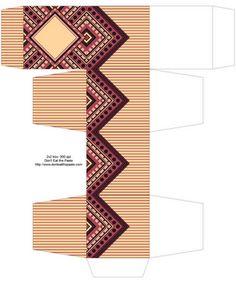 Caja de papel (en dif. colores)