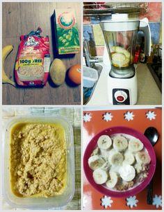 Mango and orange overnight oatmeal