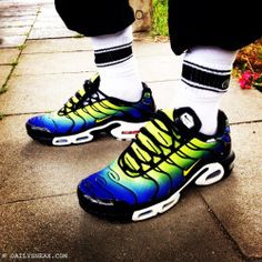"559ecd82eb dailysneax: ""CSD in Cologne with my Nike TN Air Max Plus in blue yellow"