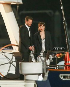 Jamie Dornan as Christian Grey and Dakota Johnson as Anastasia Steele on the set of Fifty Shades Darker & Freed http://www.everythingjamiedornan.com/gallery/displayimage.php?album=lastup&cat=0&pid=23928#top_display_media
