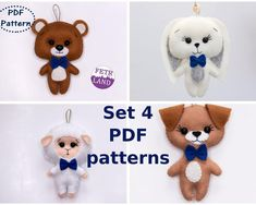 Easter Toys, Easter Bunny, Spring Animals, Felt Bunny, Rabbit Toys, Sewing Toys, Felt Toys, Stuffed Animal Patterns, Felt Animals