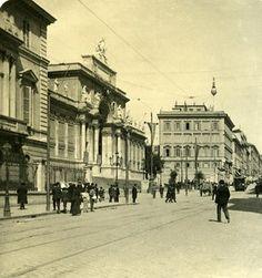 Italy Roma Via Nazionale old NPG Stereo Photo 1900