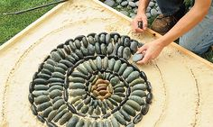 How to make a pebble mosaic walkway