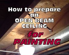 5 Tips on How to Prepare Open Beam Ceiling for Painting Unfinished basements can be dark and dingy. They usually come with an exposed or open beam ceiling that reveals all the pipes, vents and wiring that are the inner workings for the basic functions of Basement Makeover, Basement House, Basement Plans, Basement Bedrooms, Basement Flooring, Basement Renovations, Basement Bathroom, Home Renovation, House Remodeling