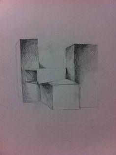 Box drawing - vanishing point - 24th September