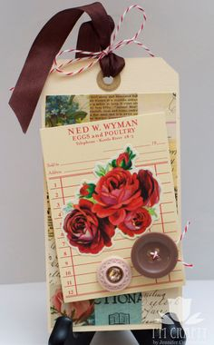 Rose Tag by ImCrafty on Etsy, $3.50