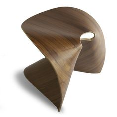 Po Shun Leong: Fortune Cookie Stool Walnut, at 40% off!
