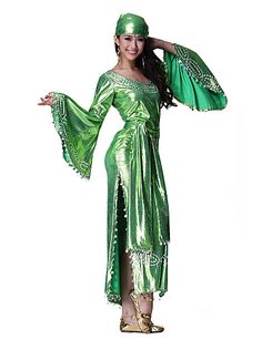 Dancewear Polyester with Sequins Belly Dance Performance Dress for Ladies More Colors - USD $ 99.99