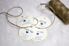 Custom tags rotondi - Tags personalizzati : Biglietti di valentina-creations