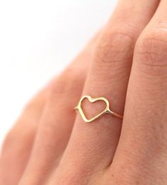 Gold Heart Ring by Lumo