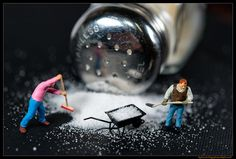 Miniature people art and macro lens photography Salt-Mines | Flickr - Photo Sharing!