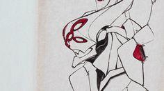 Art, Humanoid Sketch, Alien, Mecha