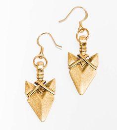 gold arrow head earrings