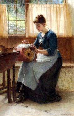 William Weatherhead The Lace-Maker. 1889 г.