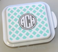 Personalized Square Cake Pan  Monogrammed by happythoughtsgifts, $46.00